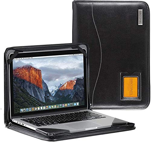 Broonel - Contour Series - Black Heavy Duty Leather Protective Case - Compatible with HP Pavilion 15-cw1004na 15.6 Inch
