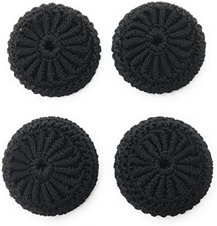 4 Crochet Black Buttons Set 1 3 8 Inch Hand Made Buttons Blazer Dresses Sportcoats Designers product image