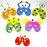 1 x Pack of 6 Monster/Alien EVA Foam Masks - assorted designs
