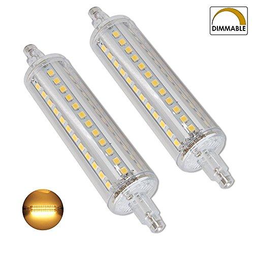 10W Dimmbare R7s LED-Scheinwerfer-Birnen-118mm Warm Weiß 3000K 360 Degrees Double Ended J118 R7s LED Lampe 100W Halogen-Ersatz Zwei Pack