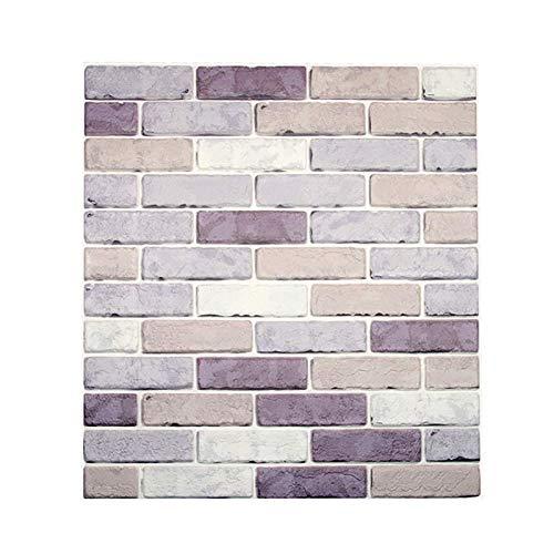 Pegatinas de pared de ladrillo de azulejos de bricolaje 3D, baldosas autoadhesivas salpicaduras, calcomanías de papel tapiz autoadhesivo, etiquetas engomadas de la baldosa de pared, fondo de pared par