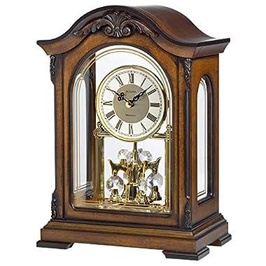Bulova B1845 Durant Chiming Clock, Walnut Finish