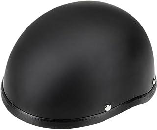 Romacci Capacete semi-aberto para motocicleta Capacete de proteção preto mate para motoneta