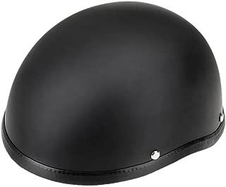 Docooler Motorcycle Half Open Face Helmet Matt Black Protection Shell Helmet for Scooter Bike