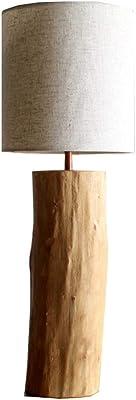 デスクライト 木製のテーブルランプの寝室のリビングルームのテーブルランプベッドサイドのテーブルスタディベッドサイドのデスクランプファブリックランプシェードベッドサイドのランプ スタンドライト テーブルランプ (Color : A)