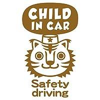imoninn CHILD in car ステッカー 【パッケージ版】 No.57 トラさん (ゴールドメタリック)