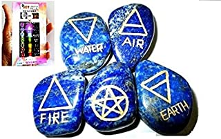 Jet New Lapis Lazuli 5 Element Tumbled Stones Genuine Free Booklet Jet International Crystal Therapy IMAGE IS JUST A REFERENCE.