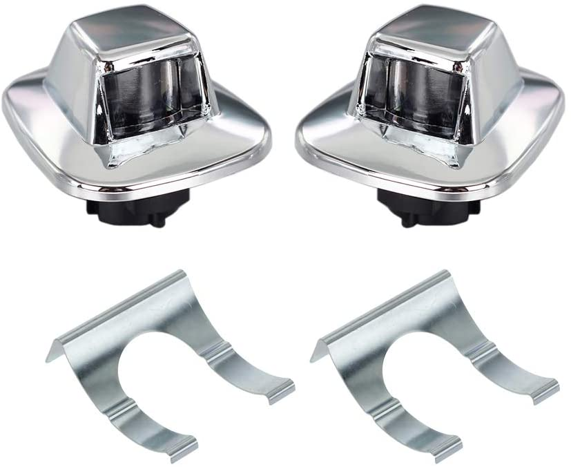 Popular overseas HERCOO Indianapolis Mall License Plate Lights Lamp Compatible Lens Housing Chrome