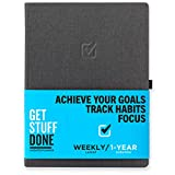 "Get Stuff Done Daily Planner 2021-2022 – 1 Year (Weekly) Undated Planner 7.7"" x 10"" - Monthly, Weekly And Daily Agenda - Best For Productivity And Achieving Goals – Personal Organizer for Men & Women"