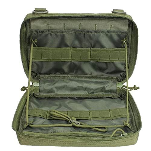 Bolsa De Almacenamiento Aire Libre Shell Desigh Senderismo Cinturón Bolsas De Nylon Impermeable para Aire Libre, Bolsa Utilidad Camping Adjunto Bolsas Ejército Verde