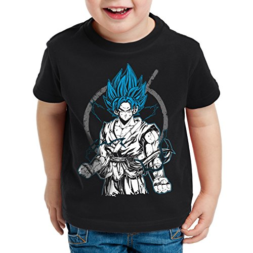 style3 Goku Contender T-Shirt per Bambini e Ragazzi Roshi Ball z Songoku Dragon, Dimensione:140
