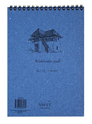SM.LT AB-35TS - Cuaderno para pintar con acuarelas (A4, papel de 280 g, 35 páginas), color azul