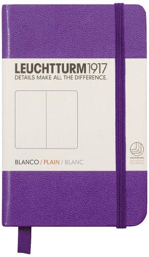 Leuchtturm1917 Mini - Cuaderno (A7, liso), color morado