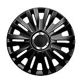 15pulgadas tapacubos Royal RC (Negro con anillo cromado). Tapacubos apto para Opel Vehículos