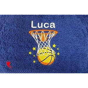 Basketball Handtuch bestickt mit Motiv und Name