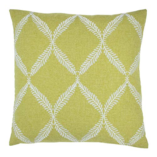 Paoletti Olivia Polyester Filled Cushion, Citron, 45 x 45cm