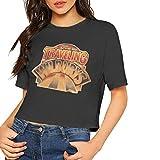 Camiseta de Manga Corta con Top Corto para Mujer Camiseta de Manga con Estilo de Ombligo Corto para niñas Traveling Wilburys Collection