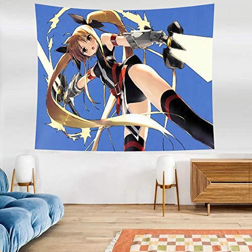 LSSWY Tapices,Anime Serie Chica Mágica Lyrical Nanoha Tapices Arte Revestimientos De Paredes Cortinas Colchonetas De Yoga Multifuncional Decoración del Hogar Size C