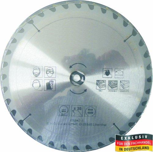 Masterproof Lame de scie circulaire en métal, 300 mm, 36 dents, trempé spécial pour scies à main et de table
