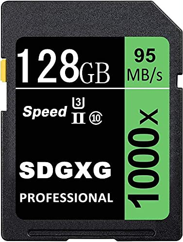 Idea SD Memory Card 128 GB SDXC UHS-I U3 Class 10 Memory SDXC Card Data Storage Up to 95 MB/s for Cameras and Laptops (128 GB)