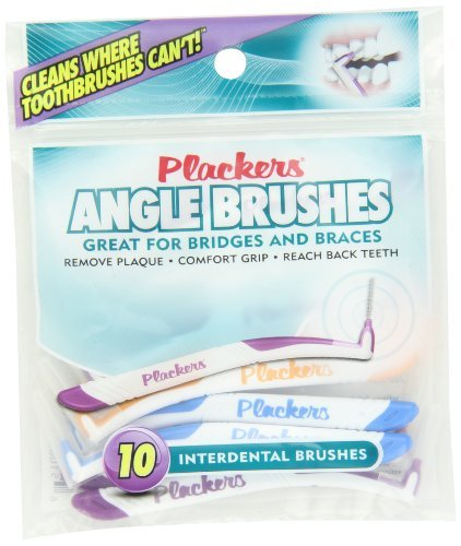 Plackers Interdental Angled Brush, 10 Count by Plackers