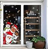 Feliz Navidad Pegatinas de Ventana Divertidos Saludos Extraíbles Decoracion Navideña...