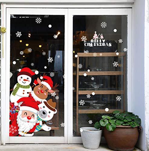 Feliz Navidad Pegatinas de Ventana Divertidos Saludos Extraíbles Decoracion Navideña Regalos para...