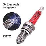 PUXINGPING- 3pcs Spark Plug D8TC 3 Electrodo Universal for CG 125 150 200cc CF250 Vespa de la Motocicleta ATV Quads