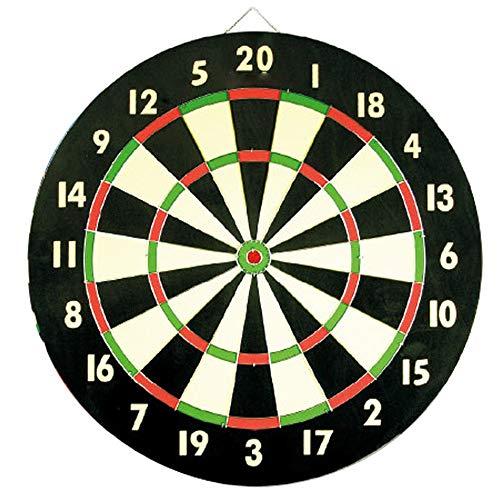 BESISOON Eltern-Kind-Interactive Toys 18-Zoll-Turnier Turnier Dartboard Classic 20 Point & Circular Bulls-Eye 6 Stahl-Darts mit Stahlspitze für langes Leben und einwandfreie Leistung Ideal für Keller