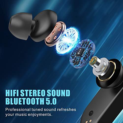 Babacom Auriculares Inalambricos Deporte, Auriculares Bluetooth 5.0 con Microfono Incorporado, Sonido Estéreo Cascos Inalambricos con Cancelación de Ruido, IPX7 Impermeable, 40H Tiempo de Reprodución miniatura