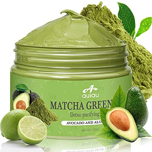 Green Tea Clay Mask, Organic Matcha Clay Face Mask with Vitamin E Kaolin...