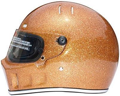 CRG Full Face Motorcycle Street Bike Fiberglass Helmet DOT Certified ATV 1 Parent Medium Gold product image