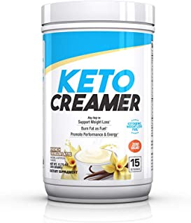 BPI Sports Keto Creamer – Ketogenic Coffee Creamer – Electrolytes, MCTS, 10g Healthy Fats – Supports Ketosis, Energy, Appetite Control – for Men & Women – French Vanilla Latte – 15 Servings