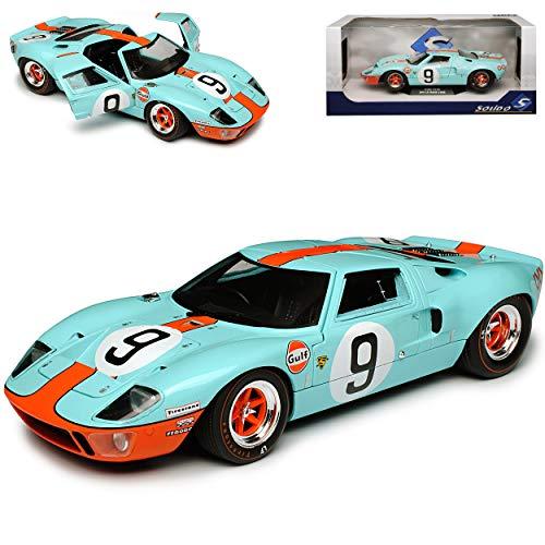 NEW Ford GT40 24H Le Mans 1968 Gulf Blau 1/18 Solido Modell Auto