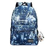 Backpack Bags, GIM Fashion Galaxy Sky Printing Schoolbags College Shoulder Back Pack/School Book