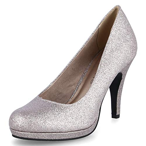 Tamaris Damen 1-1-22407-24 Pumps, Gold (Space Glam 960), 40 EU