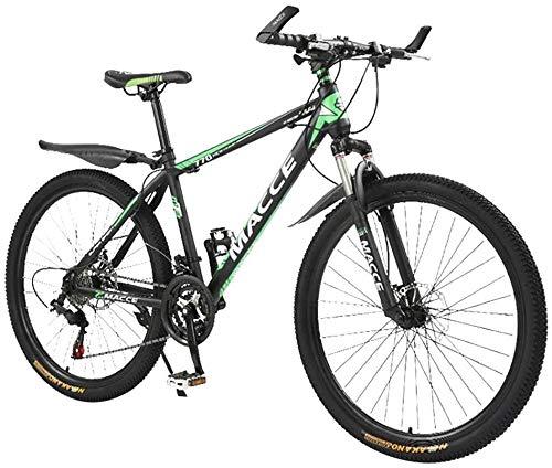 Zhouzhou666 - Bicicletta pieghevole da 26 pollici, in acciaio al carbonio, 24 velocità, con sospensioni complete per mountain bike, mountain bike, mountain bike, bici da uomo, Verde
