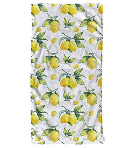Toallas de Mano Toallitas de algodón Patrón de Acuarela de limón, cómodas Toallas Suaves para baño / Cocina / Yoga / Golf / Cabello / Toalla Facial para Hombres / Mujeres / niñas / niños