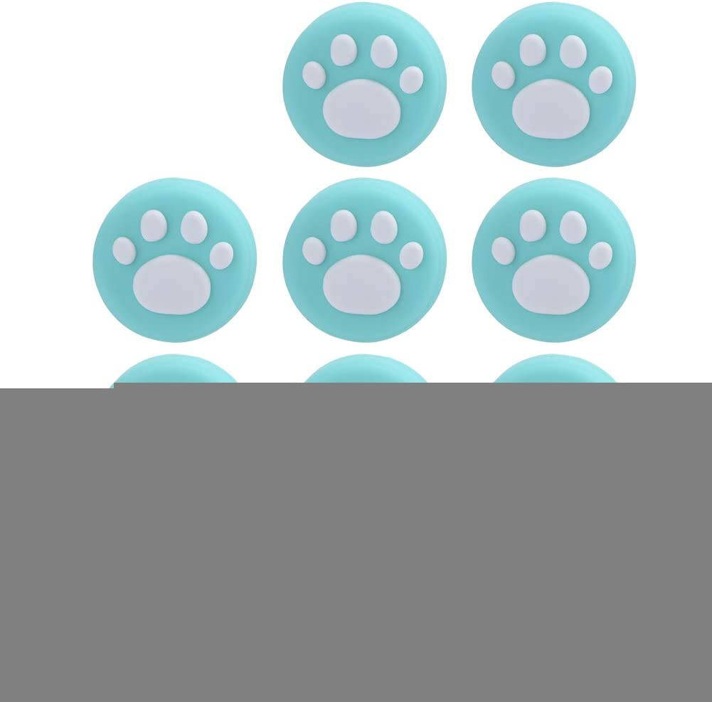 Tonysa Soft Cat Paw Thumb Grips Cover Wear Resistance Joystick Rocker Silicone Cap Universal Cat Paw Rocker Cap Silicone Rocker Cap Cute Thumb Grip Cover for PS4 Wei/ß blau