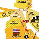 Run Ink Marine Corps 26.2 Course Marathon Map Poster
