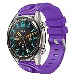 HappyTop Bracelet de rechange confortable en silicone compatible avec Huawei Watch GT Sport - Unisexe - Violet