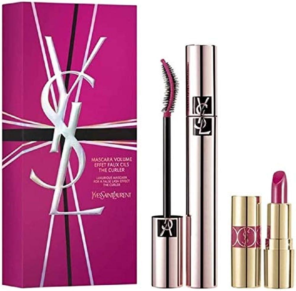 Yves saint laurent luxurious set mascara volume effet faux + mini rouge volupte shine 49 rose 3614272617803