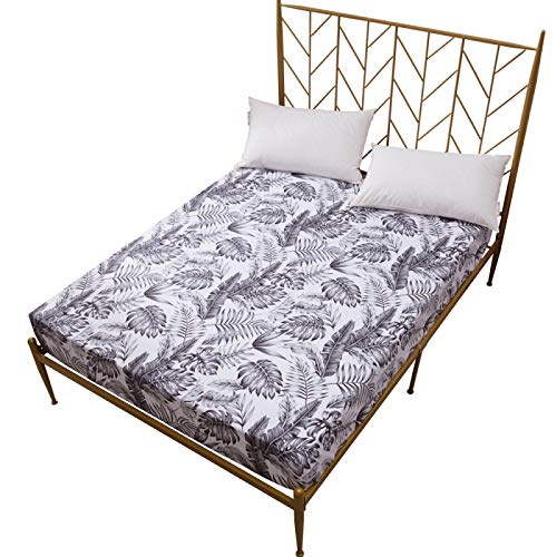 White Single Sheet And Feather Series Bedding, Super Soft And Comfortable Bed Sheet With Elastic Corners, Machine Washable Non-Wrinkle Sheet For All Seasons