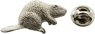 Beaver Pin ~ Antiqued Pewter ~ Lapel Pin