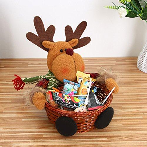 Amosfun 1 juego de caramelos de Navidad tejer cestería Centro ...
