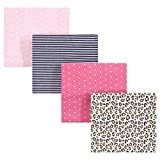 Hudson Baby Unisex Baby Cotton Flannel Receiving Blankets, Leopard, One Size