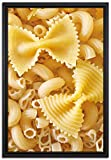 Pixxprint Nudeln Pasta Italia Mischung Leinwandbild 60x40