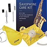Libretto Alto Saxophone ALL-INCLUSIVE Giftable Care Kit: Mouthpiece Brush + Dust Brush + 2 Microfiber Cleaning Swab + Thumb Cushion + Premium Cork Grease + Reed Case, Handy Case, Extend Life of Sax!