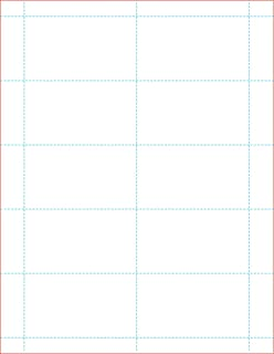 100# Tag Blank 10 Per Page White, Laser/Ink Jet Business Card Stock (1000)