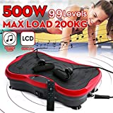 Timegard Vibration Plate Exercise Machine - Whole Body Workout Vibration Fitness Platform w/Loop Bands - Home Training Equipment for Weight Loss & Toning